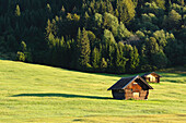 little barn near Gerold at lake Wagenbrüchsee, Bavaria, Germany