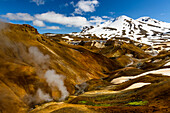 Riverbed in the geothermal region of Kerlingarfjoell, highland of Iceland