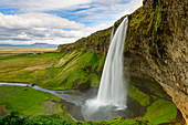 Impressive Seljalandsfoss close to the ringroad in the south of Iceland