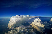 aerial shot of a huge thunderstorm above Poland