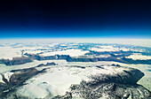 high plateaus and fjord glaciers on the southern tip of Greenland