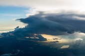 light below a dark cloud in the vicinity of Günzburg, Bavaria, Germany