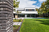 modern architecture house in the Bauhaus style, Oberhausen, Nordrhein-Westfalen, Germany