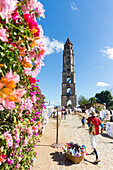 Manaca Iznaga tower, originally built to control the slaves working on the sugarcane plantations, tour into the Valle de los Ingenios, with a steam locomotive, family travel to Cuba, parental leave, holiday, time-out, adventure, near Trinidad, province Sa
