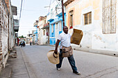 empty street in a colonial town, Santa Clara, family travel to Cuba, parental leave, holiday, time-out, adventure, Santa Clara, province Villa Clara, Cuba, Caribbean island