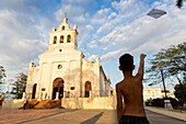 Roman Catholic Church El Carmen, colonial town, Santa Clara, family travel to Cuba, parental leave, holiday, time-out, adventure, Santa Clara, province Villa Clara, Cuba, Caribbean island