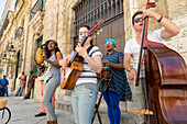 musicians on Plaza Vieja, music, dancing, salsa,  historic town, center, old town, Habana Vieja,  family travel to Cuba, holiday, time-out, adventure, Havana, Cuba, Caribbean island