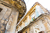 Decay and decline of one of the most beautiful cities in the world, dilapidated buildings in the center, old town, Habana Vieja, family travel to Cuba, holiday, time-out, adventure, Havana, Cuba, Caribbean island