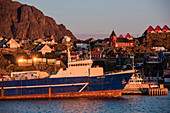 Late afternoon sun casts Sisimiut in a golden glow, Sisimiut, Qeqqata, Greenland
