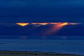 Wolkenstimmung über Tasman Bay, Abel Tasman Nationalpark, Tasman, Südinsel, Neuseeland