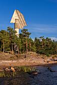 Picasso Monument in the north of Lake Vaener, Kristinehamn, Vänernsee, Sweden