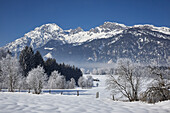 snow-covered winter landscape at Uttendorf, Salzburg, Austria