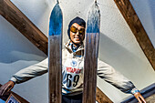 ski jumper, winter sports, museum, Illertal, Hoernerdoerfer, Allgaaeu, Baden-Wuerttemberg, Germany, Europe, winter, Alps