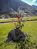 Spiritual place, Akkemskoye Ozero, Kara-Tyurek, Belucha, Altai, Siberia, Russia