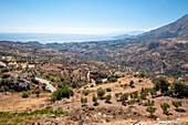 Road to Agios Pavlos, coast, landscape, Crete, Greece, Europe