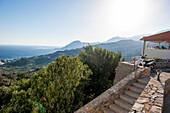 View from Mirthios towards Plakias, Coastal landscape, Mirthios, Crete, Greece, EuropeCrete, Greece, Europe