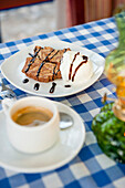 Desert in a restaurant, Greek Food, Crete, Greece, Europe