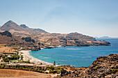 Küstenlandschaft mit Bucht, Damnoni, Kreta, Griechenland, Europa