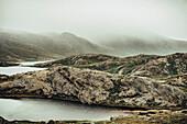 Ausblick auf die Natur Grönlands, Grönland, Arktis.