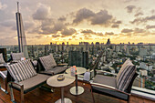 View from Octave Rooftop Bar, Marriot Hotel Sukhumvit, skyline , view point, skybar, Lounge, rooftop, bar, Bangkok, Thailand