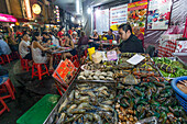 Chinatown, night market, Sea Food Restaurant, street food, Bangkok, Thailand
