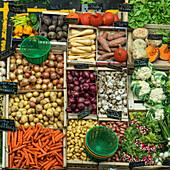 vegetables, Marche de Capucins, Bordeaux, France