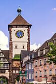 Schwabentor, gate tower, old city center, Freiburg, Baden-Wuerttemberg, Schwarzwald, black forest, Germany