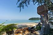 Buffalo Bay, Ao Khao Kwai, Sculpture, Resort, beach chairs,  Koh Phayam, Thailand