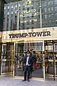 Door Man, Trump Tower , 5th Avenue, Manhattan, Big Apple, New York City, USA