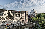 Teufelsberg, former monitoring system of the U.S. Army, abandoned building, Graffiti,  Berlin, Germany