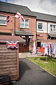 patriotism in garden, Belfast, Northern Ireland, United Kingdom, Europe