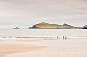 three children walking along Wine Beach, Dingle Peninsula, Slea Head Drive, County Kerry, Ireland, Wild Atlantic Way, Europe
