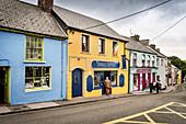 colourful houses at centre of Dingle Town, Dingle Peninsula, Slea Head Drive, County Kerry, Ireland, Wild Atlantic Way, Europe
