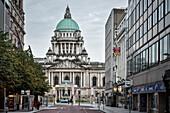 impressive dome of Belfast City Hall, Northern Ireland, United Kingdom, Europe