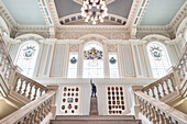 impressive stairway at Belfast City Hall, Northern Ireland, United Kingdom, Europe