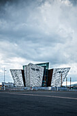 modern architecture of Titanic Exhibition Centre, Belfast, Northern Ireland, United Kingdom, Europe