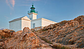 lighthouse in L'Ile Rousse, Corsica, France