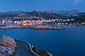 View of L'Ile Rousse, Corsica, France