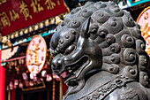 A dragon figure in the Taoist temple complex Wong Tai Sin Temple in Kowloon, Hong Kong, China, Asia