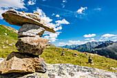 Stone Men in the Zillertaler Alps, Ginzling, Zillertal, Tyrol, Austria