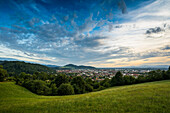 City view of Freiburg and its surroundings, Freiburg im Breisgau, Black Forest, Baden-Württemberg, Germany