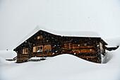 blizzard in Belalp, Wallis, Charmey, Switzerland