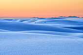 White sand dunes at dawn, White Sands National Monument, New Mexico, USA