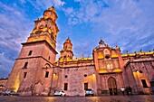 Morelia Cathedral, Catedral de Morelia, San Salvador, Baroque style, Historical Center of the city of Morelia City, Morelia, Michoacan State, Mexico, Central America.