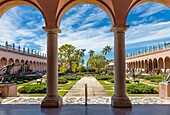 The Courtyard at The John and Mable Ringling Museum of Art in Sarasota Florida.