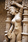 Vishkanya sculpture, inner wall of Rani ki vav, an intricately constructed stepwell on the banks of Saraswati River. Memorial to an 11th century AD King Bhimdev I. Built as inverted Vishnu temple with seven levels of stairs and holds more than 500 princip
