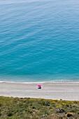 Near Nerja and Maro, Costa del Sol, Malaga Province, Andalusia, southern Spain. Playa las Alberquillas in the protected Paraje Natural Acantilados de Maro-Cerro Gordo.