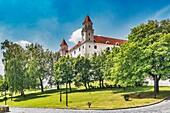 Bratislava castle is located in Bratislava, the capital of Slovakia in Europe.
