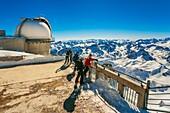 Pic du Midi de Bigorre. Pic du Midi Obsevatory. Grand Tourmalet ski area. Luz-Saint Sauveur. Hautes-Pyrenees Department. Midi-Pyrenees Region. France.
