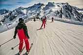 Luz Ardiden. Ski resort. Luz-Saint Sauveur. Hautes-Pyrenees Department. Midi-Pyrenees Region. France.